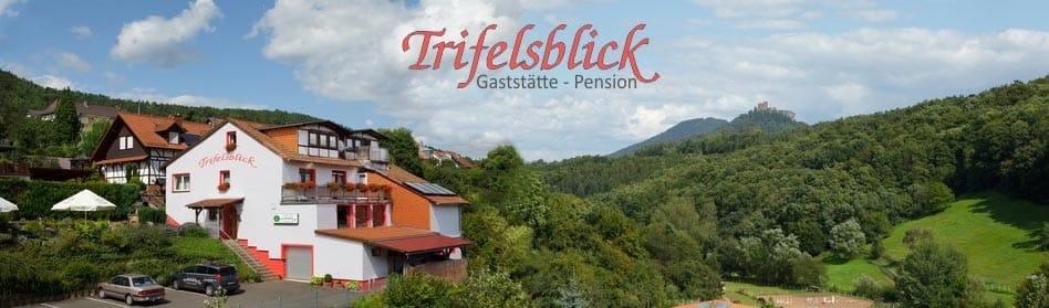 "Speisegaststätte, Pension ""Trifelsblick"" in Wernersberg in der Pfalz"