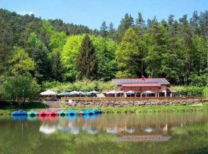 """Ausflugslokal """"Paddelweiher Waldgaststätte"""" in Hauenstein in der Pfalz"""