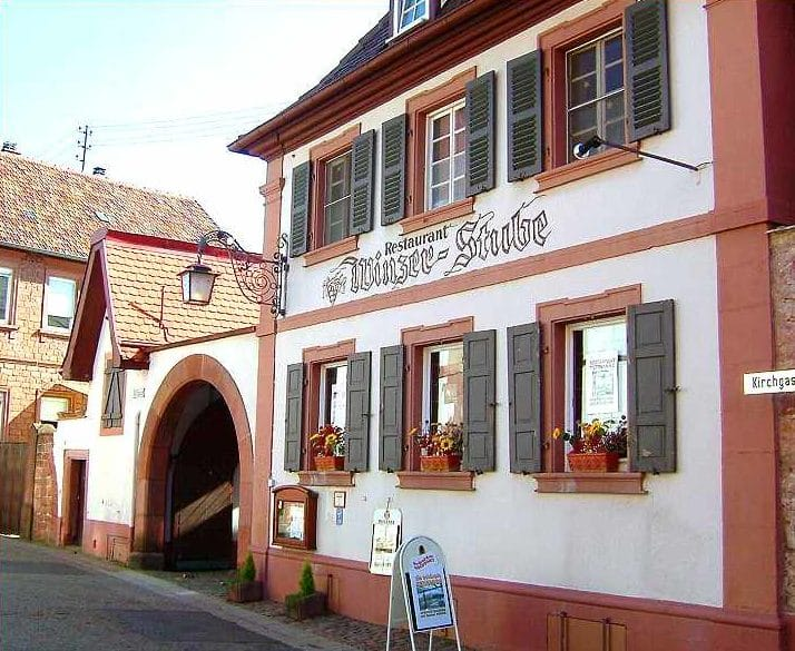 "Restaurant, Traditionsgasthaus, Weinstube ""Winzerstube"" in Weyher in der Pfalz"