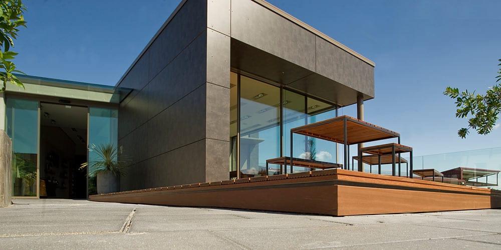Die Vinothek wurde 2016 mit dem Architekturpreis ausgezeichnet
