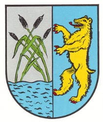 """Wappen der Gemeinde """"Bruchweiler-Bärenbach"""" in der Pfalz."""