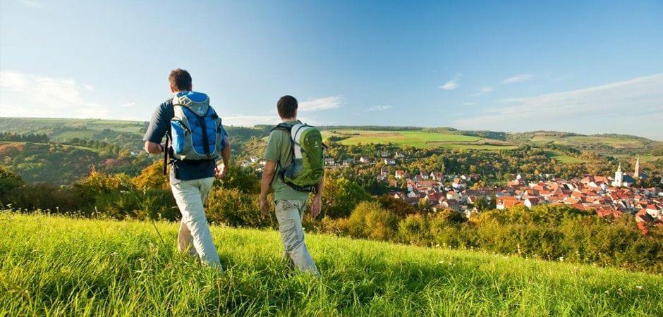 Blick auf Obermoschel in der Nordpfalz