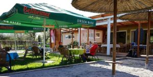 "Biergarten Vereinsgaststätte ""Turnerstube"" in Maximiliansau in der Pfalz"