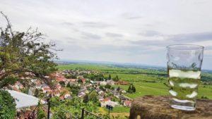 Der Blick von der Wachtenburg auf Wachenheim an der Weinstraße