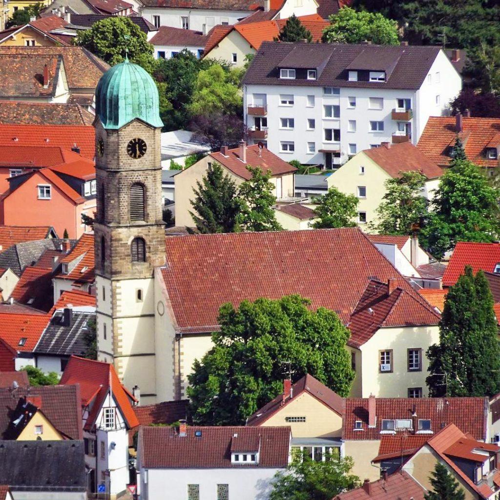 Die Burgkirche in Bad Dürkheim an der Weinstraße