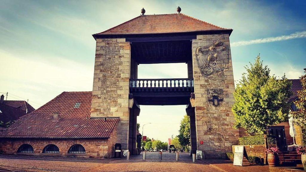 Deutsches Weintor in Schweigen-Rechtenbach in der Pfalz