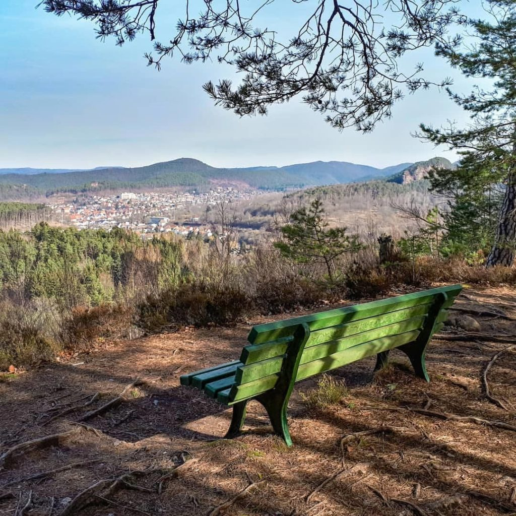 Blick auf Dahn in der Pfalz
